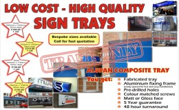 Trade sign trays
